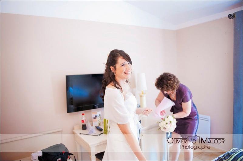 Un beau sourire de la marié