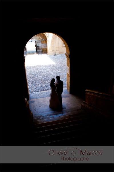 """Photo du couple """"volé"""" juste avant l'entré dans la mairie"""