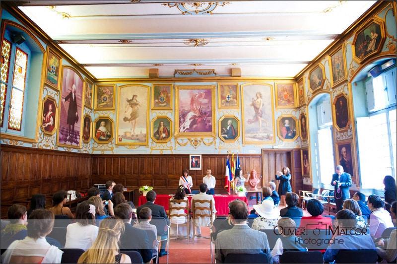 La salle des mariage d'Aix en Provence