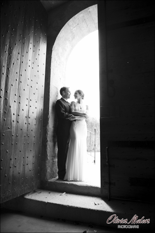 Photos de couple à l'Abbey de Sainte Eusèbe