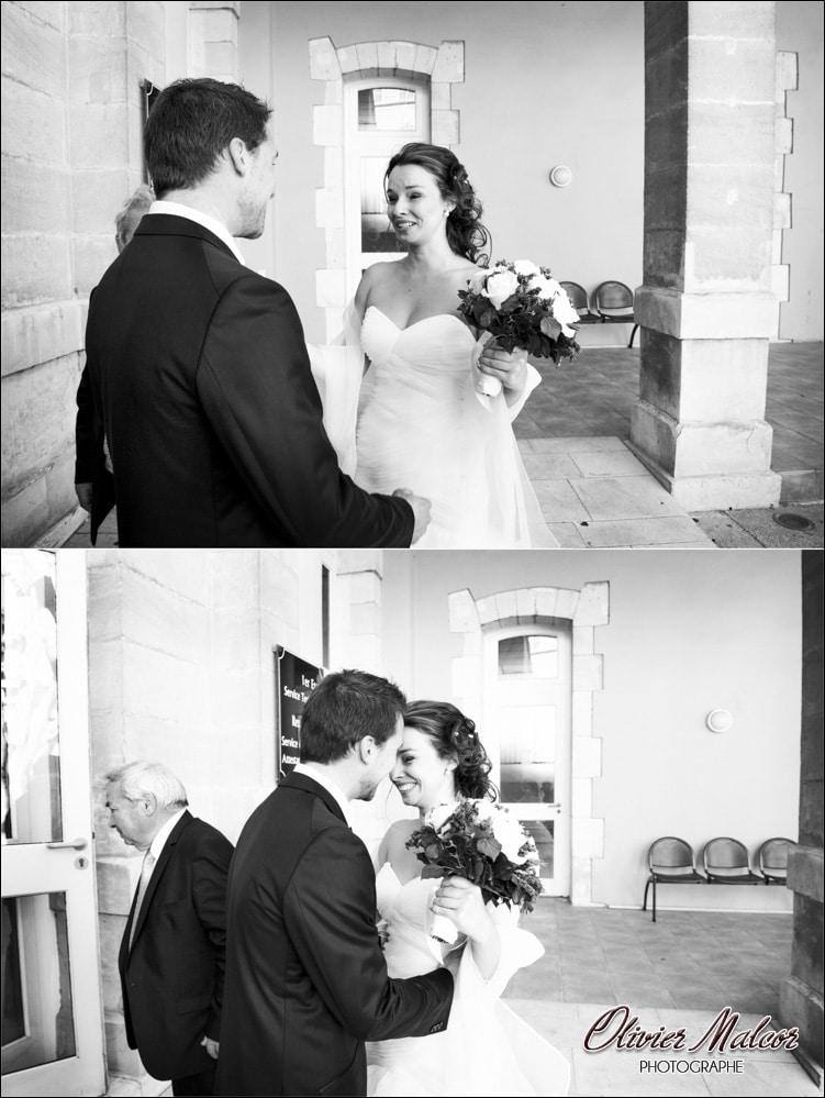 Les mariés qui se voient pour la première fois !