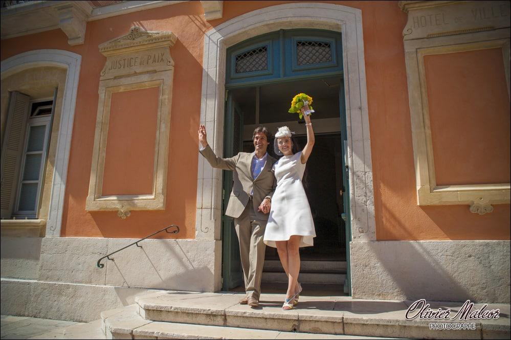 Extérieur de la salle des mariage de Saint Tropez