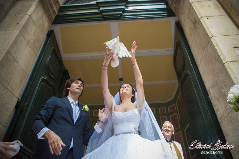 Lâché d'hirondelle mariage
