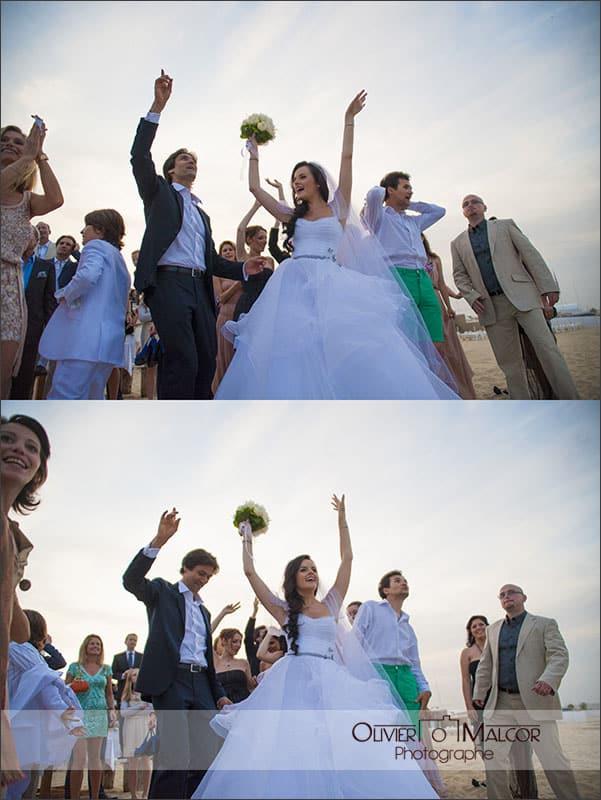 Danse des mariés sur la plage