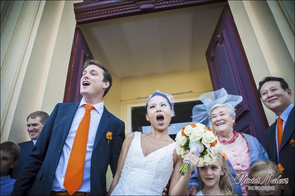Le bonheur des mariés en photographie