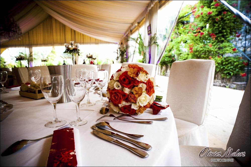 décoration table Pins Penchés mariage