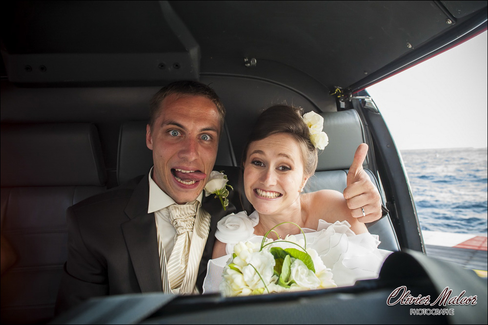 Photo de grimace des mariés !