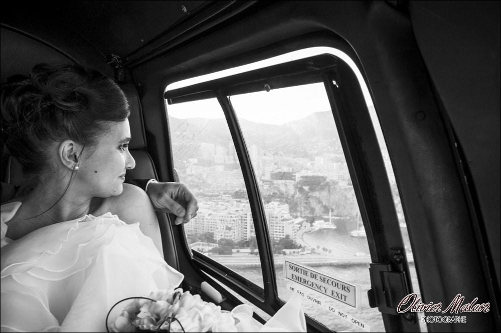 Photographe mariage Nice en hélicoptère