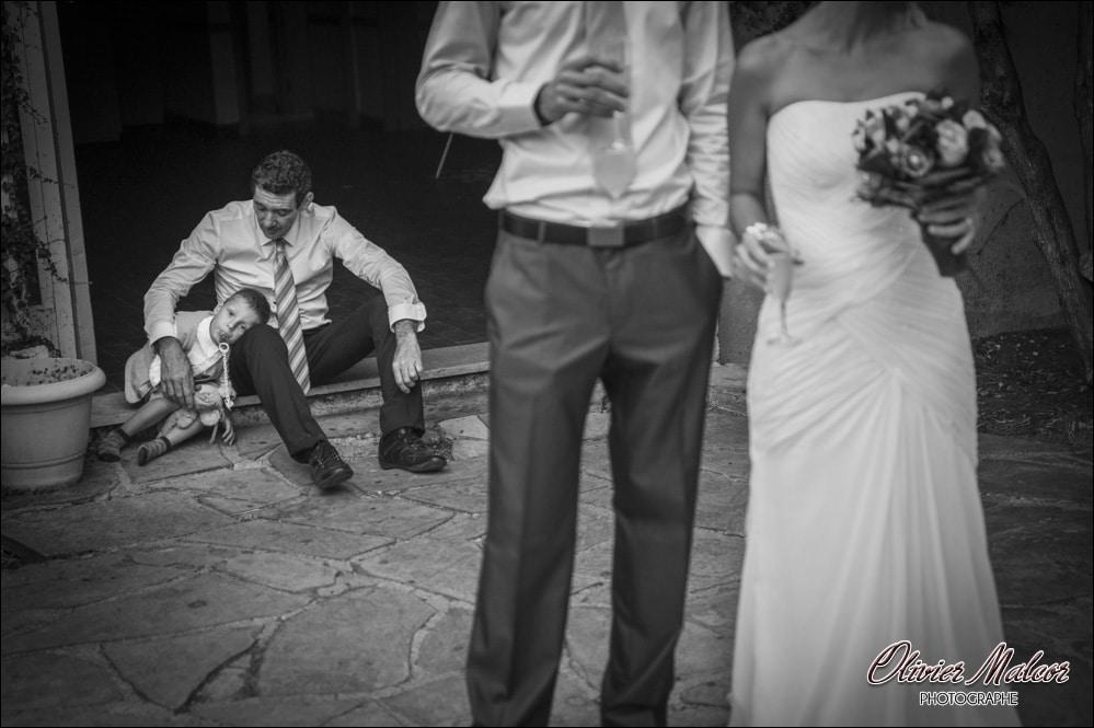 Moment émotion lors du mariage