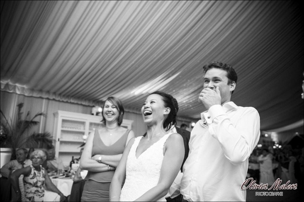 fous rire des mariés