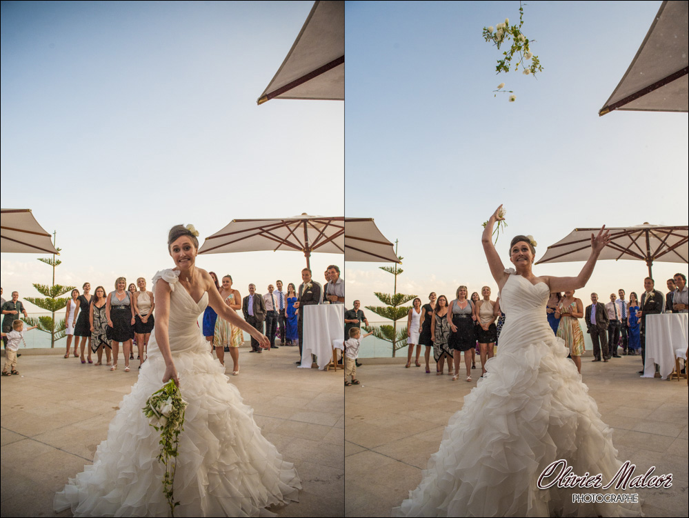 Lancé du bouquet de la marié original