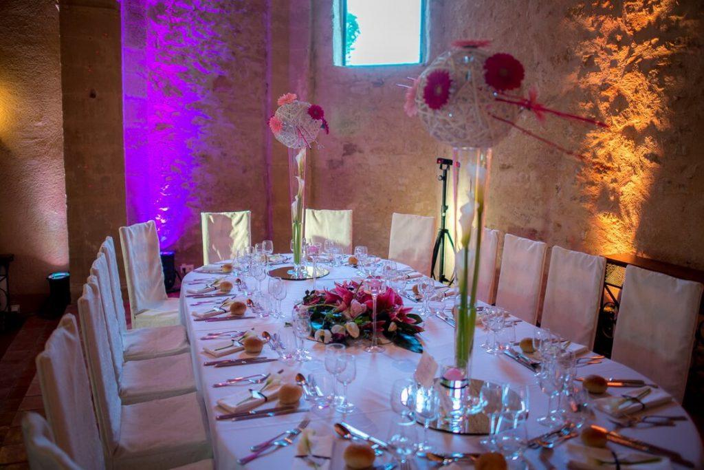 Exemple de décoration des tables
