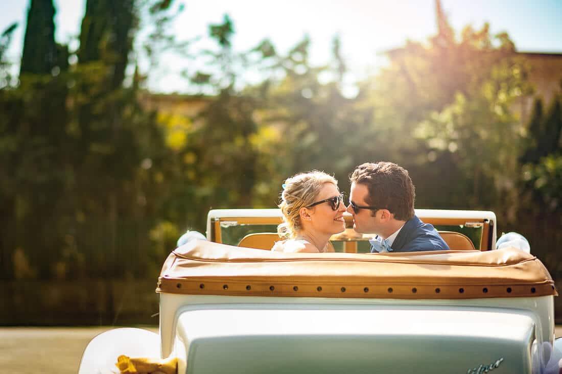 Voiture pour un mariage