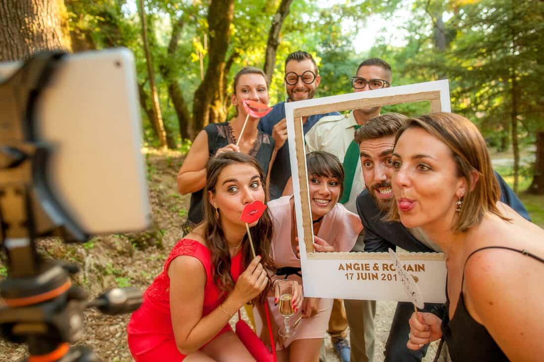 Photobooth pour un mariage