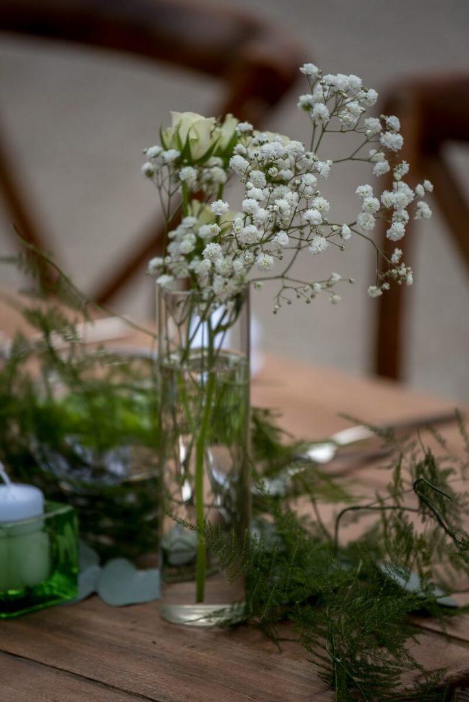 Décoration table fleur mariage