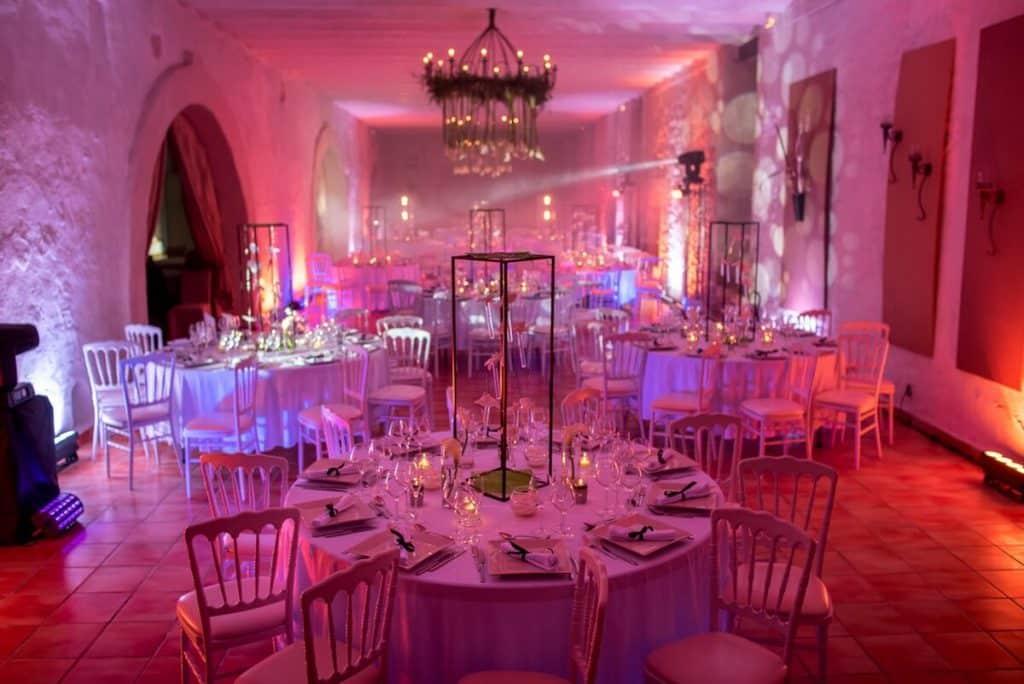 Intérieur salle Auberge du Parc mariage